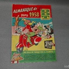 Tebeos: 1018- EL DDT REVISTA PARA MAYORES ALMANAQUE PARA 1958 MUY BUEN ESTADO. Lote 56076155