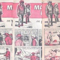 Tebeos: MASCARA GRIS NºS - 4, 5 Y 6 , CUADERNOS HEROES 16, 20 Y 24 ÚLTIMO DE LAS DOS SERIES, SIN CIRCULAR. Lote 56173965