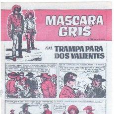 Tebeos: MASCARA GRIS Nº 6 , CUADERNOS HEROES 24 ÚLTIMO DE LAS DOS SERIES, SIN CIRCULAR. Lote 56173994