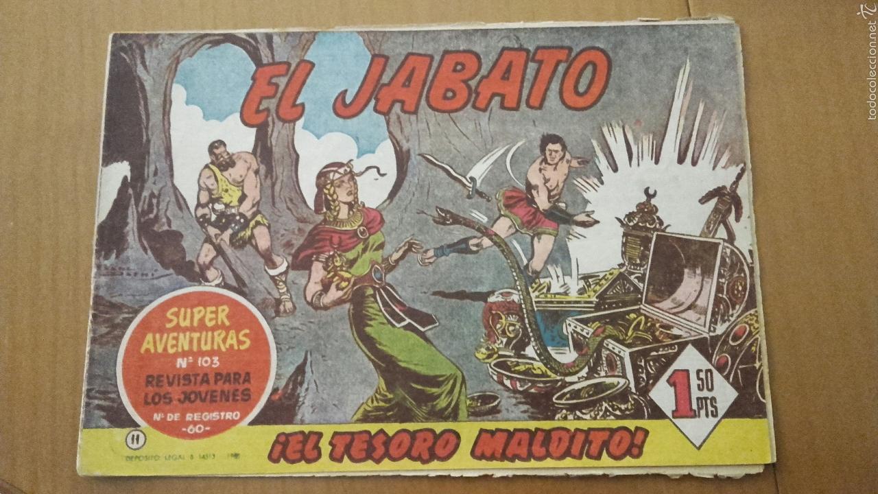 EL JABATO Nº11 ¡EL TESORO MALDITO! ORIGINAL BRUGUERA 1958 (Tebeos y Comics - Bruguera - Jabato)