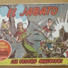 Tebeos: EL JABATO Nº11 ¡EL TESORO MALDITO! ORIGINAL BRUGUERA 1958. Lote 56150734