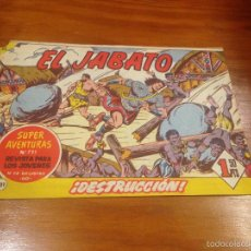 Tebeos: EL JABATO Nº 231. DESTRUCCION. BRUGUERA 1963.. Lote 56326564