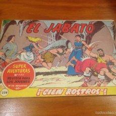 Tebeos: EL JABATO Nº 238. CIEN ROSTROS. BRUGUERA 1963. . Lote 56329559