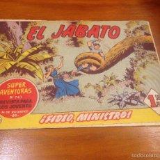 Tebeos: EL JABATO Nº 242. FIDEO, MINISTRO. BRUGUERA 1963. . Lote 56329629