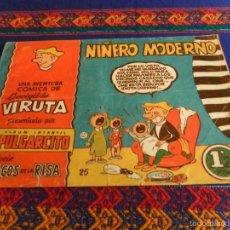 Tebeos: ALBUM INFANTIL PULGARCITO Nº 25 LEOVIGILDO VIRUTA. BRUGUERA 1,25 PTS. AÑOS 50. NIÑERO MODERNO. RARO.. Lote 56079290