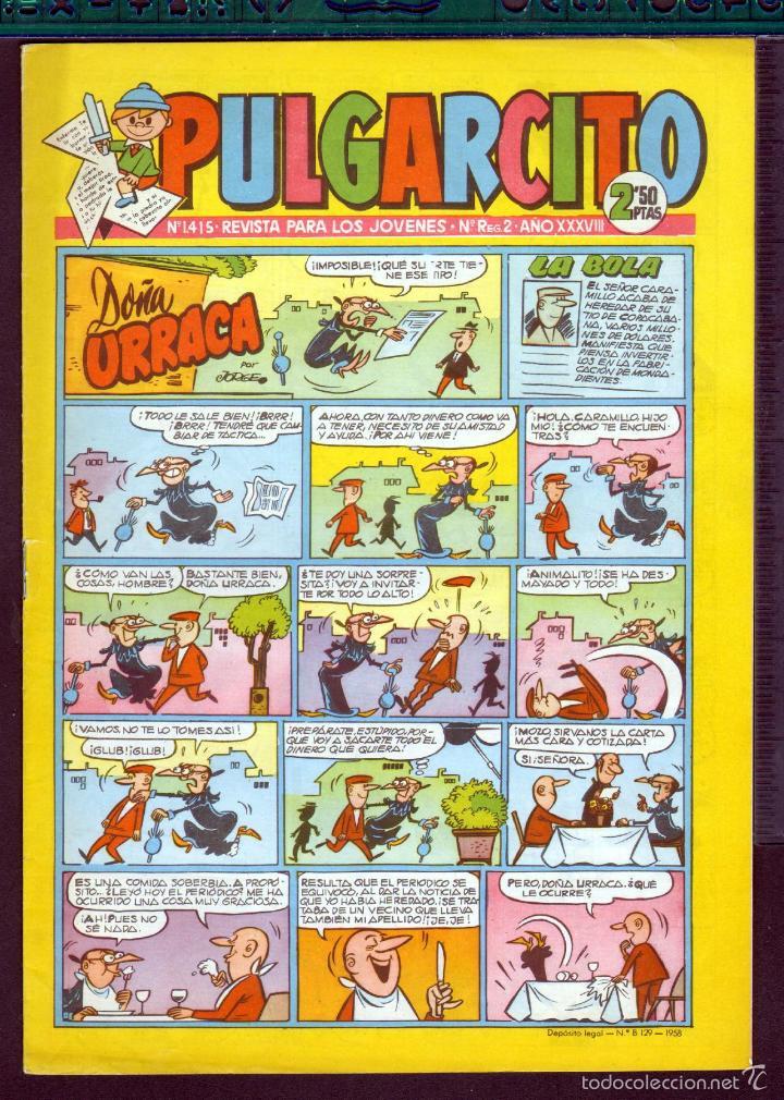 TEBEOS-COMICS GOYO - PULGARCITO - Nº 1415 - BRUGUERA - CON CAPITAN TRUENO *AA99 (Tebeos y Comics - Bruguera - Pulgarcito)