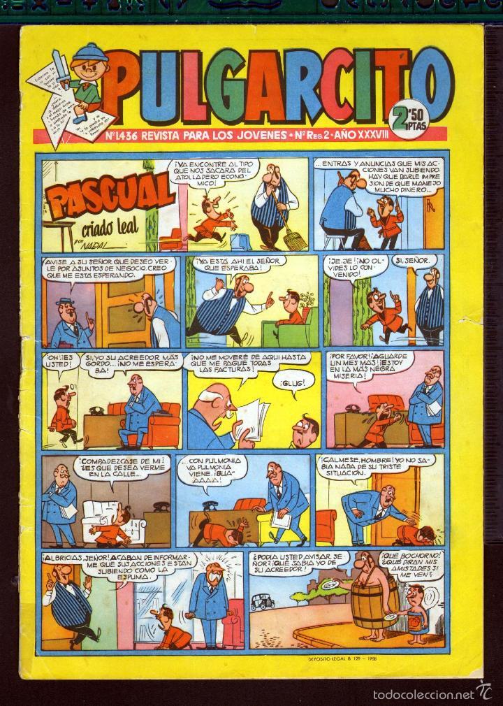 TEBEOS-COMICS GOYO - PULGARCITO - Nº 1436 - BRUGUERA - CON CAPITAN TRUENO *AA99 (Tebeos y Comics - Bruguera - Pulgarcito)