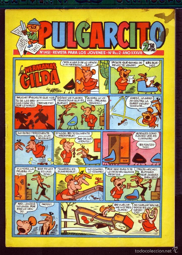 TEBEOS-COMICS GOYO - PULGARCITO - Nº 1451 - BRUGUERA - CON CAPITAN TRUENO *AA99 (Tebeos y Comics - Bruguera - Pulgarcito)