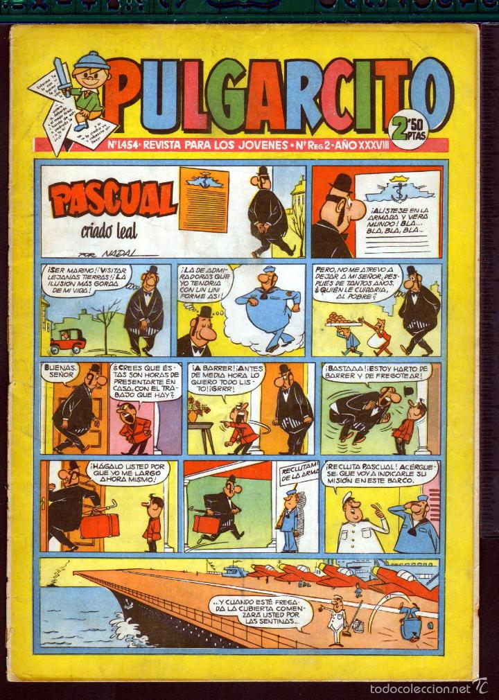 TEBEOS-COMICS GOYO - PULGARCITO - Nº 1454 - BRUGUERA - CON CAPITAN TRUENO *AA99 (Tebeos y Comics - Bruguera - Pulgarcito)