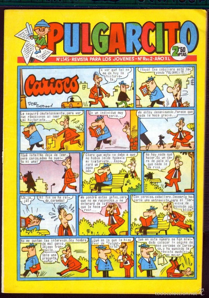 TEBEOS-COMICS GOYO - PULGARCITO - Nº 1545 - BRUGUERA - CON CAPITAN TRUENO *AA99 (Tebeos y Comics - Bruguera - Pulgarcito)