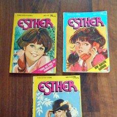 Tebeos: LOTE 3 COMICS ESTHER EDITORIAL BRUGUERA 1983 NUMERO 1 ME GUSTA SOÑAR TODA MI VIDA EN IMAGENES ESTER . Lote 56686329