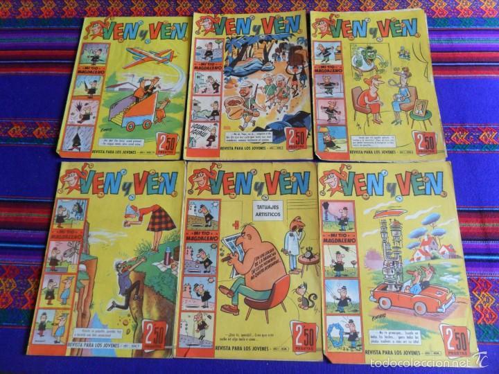 VEN Y VEN NºS 1, 2, 3 Y 5 CON JABATO. BRUGUERA 1959. 2,50 PTS. DIFÍCILES. (Tebeos y Comics - Bruguera - Jabato)