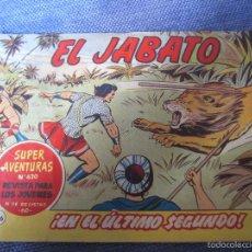Tebeos: EL JABATO Nº 196 - ORIGINAL - ED. BRUGUERA 1962. Lote 57108466