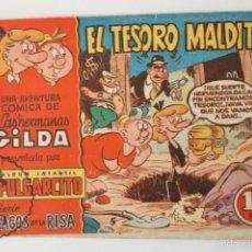 Tebeos: ANTIGUO CÓMIC PULGARCITO - LAS HERMANAS GILDA. EL TESORO MALDITO. Nº 5 - ED BRUGUERA, 1950. Lote 57168747