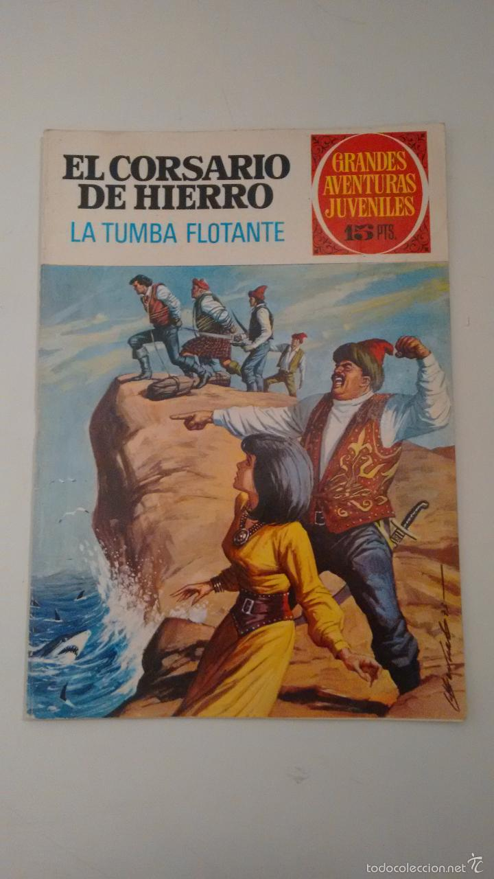 GRANDES AVENTURAS JUVENILES. EL CORSARIO DE HIERRO Nº 49. LA TUMBA FLOTANTE. BRUGUERA 1973 (Tebeos y Comics - Bruguera - Corsario de Hierro)