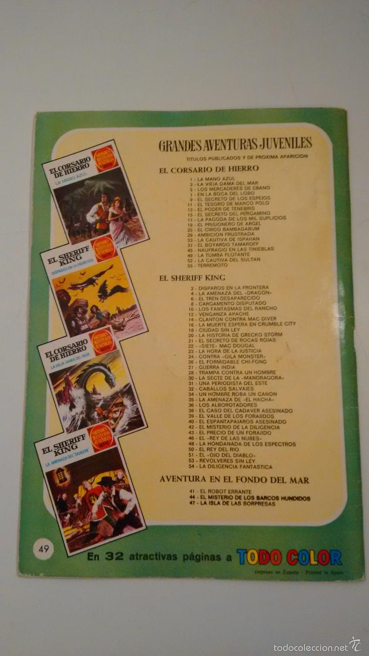Tebeos: GRANDES AVENTURAS JUVENILES. EL CORSARIO DE HIERRO Nº 49. LA TUMBA FLOTANTE. BRUGUERA 1973 - Foto 3 - 57351406