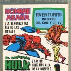 Tebeos: TEBEOS-COMICS CANDY - AVENTURAS INEDITAS DEL CINE Y TV - Nº 12 - SPIDERMAN - HULK - *AA99. Lote 57422452