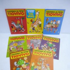 Tebeos: CUADERNOS PARA PINTAR TIOVIVO 1 AL 8 COMPLETA, BRUGUERA 1979 . Lote 57470328