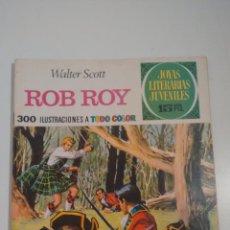 Tebeos: JOYAS LITERARIAS JUVENILES Nº 11. ROB ROY. LABERINTO ROJO. BRUGUERA 1ª EDICION 1970. . Lote 57484263