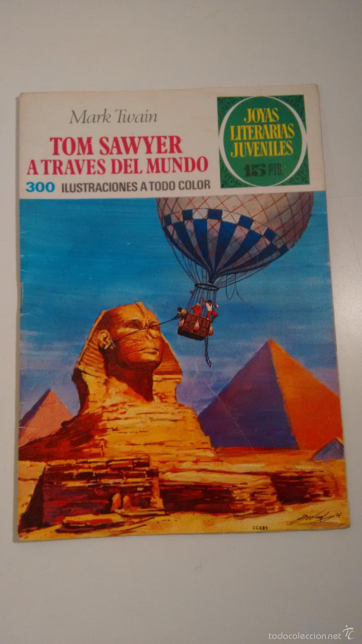 JOYAS LITERARIAS JUVENILES Nº 24 TOM SAWYER A TRAVES DEL MUNDO. LABERINTO ROJO BRUGUERA 1ª ED 1971 (Tebeos y Comics - Bruguera - Joyas Literarias)