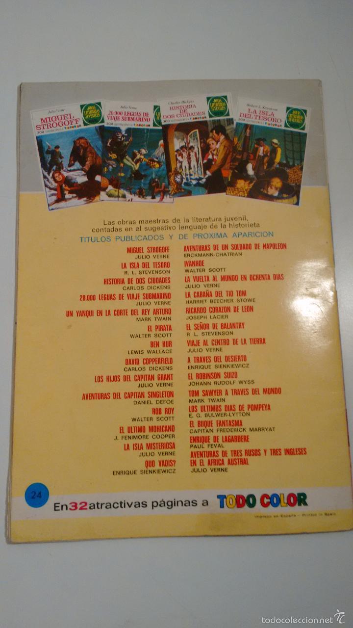 Tebeos: JOYAS LITERARIAS JUVENILES Nº 24 TOM SAWYER A TRAVES DEL MUNDO. LABERINTO ROJO BRUGUERA 1ª ED 1971 - Foto 3 - 57485156