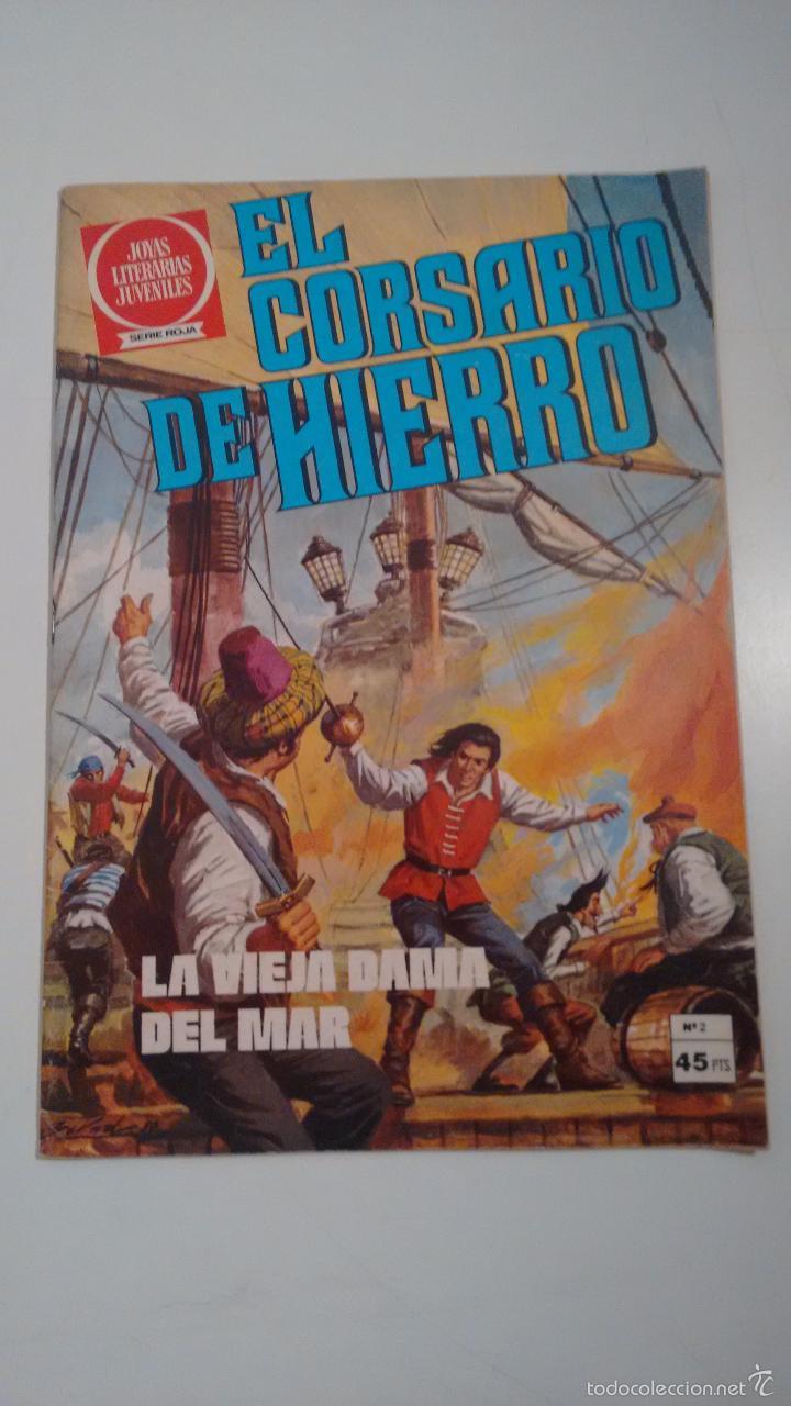 EL CORSARIO DE HIERRO. JOYAS LITERARIAS JUVENILES. SERIE ROJA Nº 2. 2ª EDICION BRUGUERA. (Tebeos y Comics - Bruguera - Corsario de Hierro)