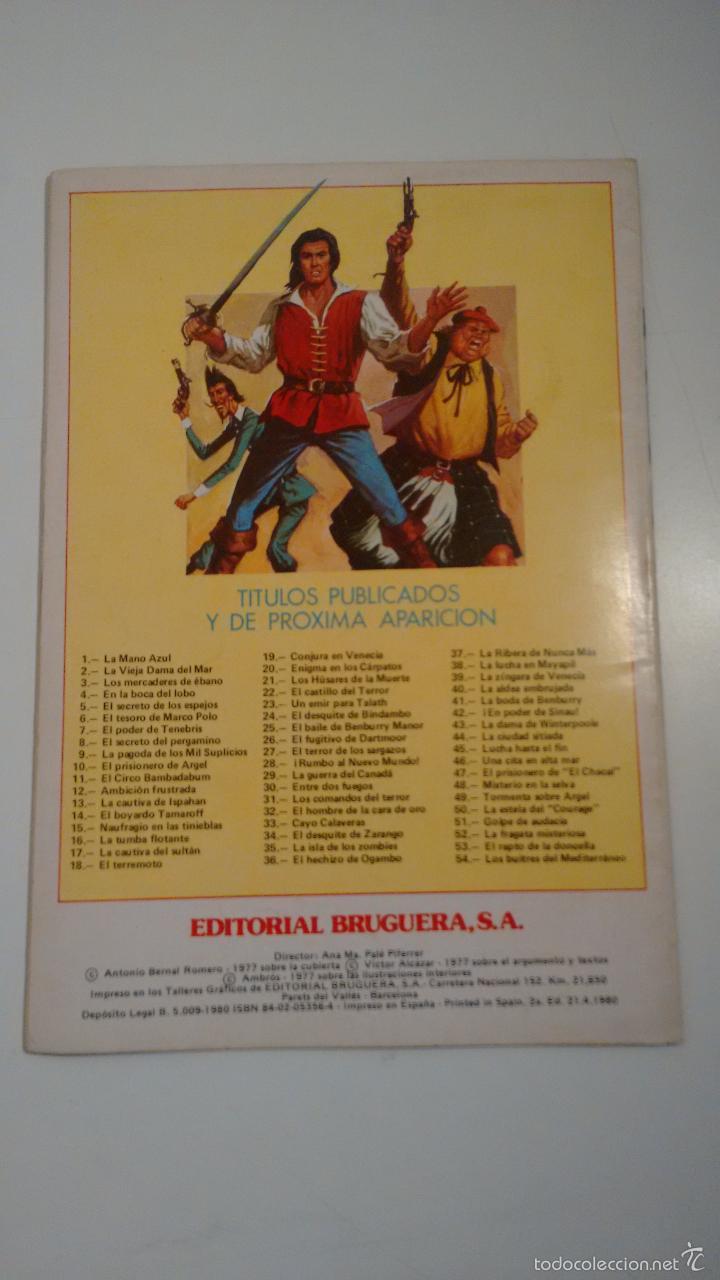 Tebeos: EL CORSARIO DE HIERRO. JOYAS LITERARIAS JUVENILES. SERIE ROJA Nº 2. 2ª EDICION BRUGUERA. - Foto 3 - 57540909