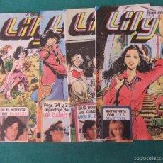 Tebeos: LILY REVISTA JUVENIL FEMENINA EDITORIAL BRUGUERA LOTE DE 4 REVISTAS. Lote 57588586