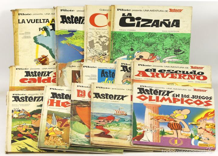 7698 - LOTE DE 14 EJEMPLARES DE ASTÉRIX.(VER DESCRIP). PILOTE. EDIT. BRUGUERA. 1961/1975. (Tebeos y Comics - Bruguera - Otros)