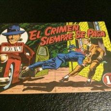 Tebeos: INSPECTOR DAN - Nº 7 EL CRIMEN SIEMPRE SE PAGA - ORIGINAL BRUGUERA (1952) MUY BIEN CONSERVADO. Lote 57685748