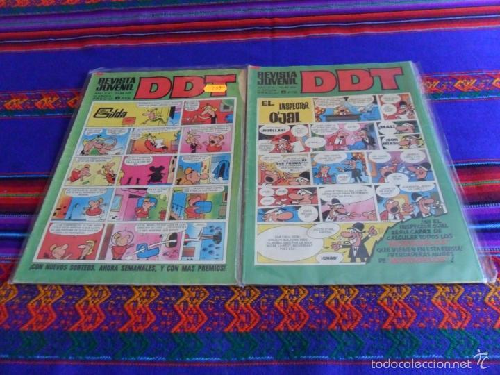 REVISTA JUVENIL DDT NºS 206 240 265 269 CON LUCKY LUKE. BRUGUERA 1972. 7 PTS. (Tebeos y Comics - Bruguera - DDT)