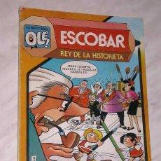 Tebeos: ESCOBAR, REY DE LA HISTORIETA. OLÉ Nº 291. BRUGUERA, 1984. BIOGRAFÍA, FOTOS, CÓMICS ANTIGUOS. IBÁÑEZ. Lote 57841050