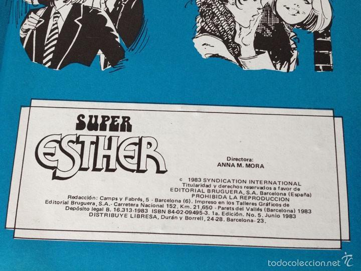 Tebeos: SUPER ESTHER - Nº 5 - ED. BRUGUERA - 1ª EDICIÓN - 1983 - Foto 2 - 57874016