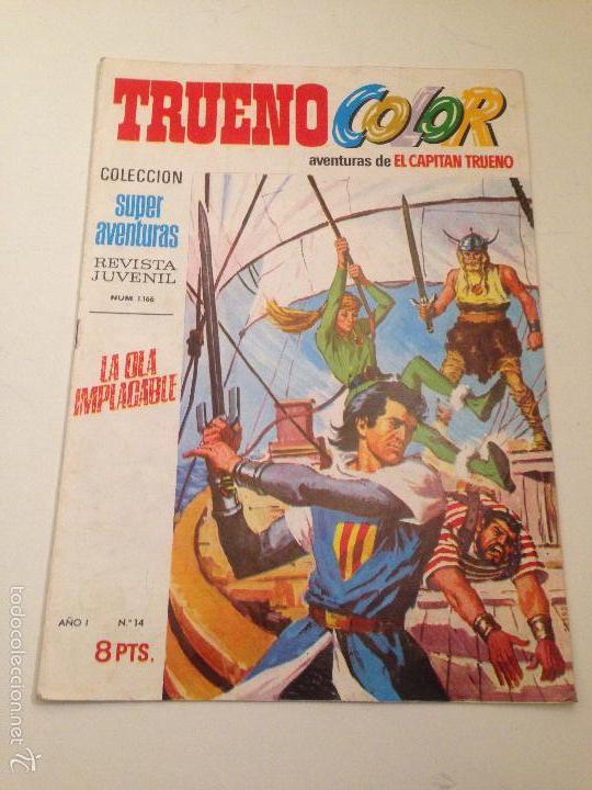 TRUENO COLOR Nº 14. LA OLA IMPACABLE. PRIMERA 1ª EPOCA. BRUGUERA 1969 (Tebeos y Comics - Bruguera - Capitán Trueno)