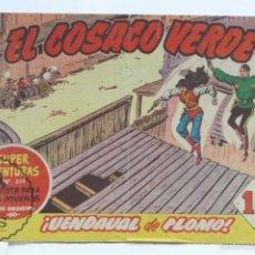 Tebeos: CÓMIC EL COSACO VERDE - Nº 80. ¡VENDAVAL DE PLOMO! - ED. BRUGUERA, AÑO 1961. Lote 57962539