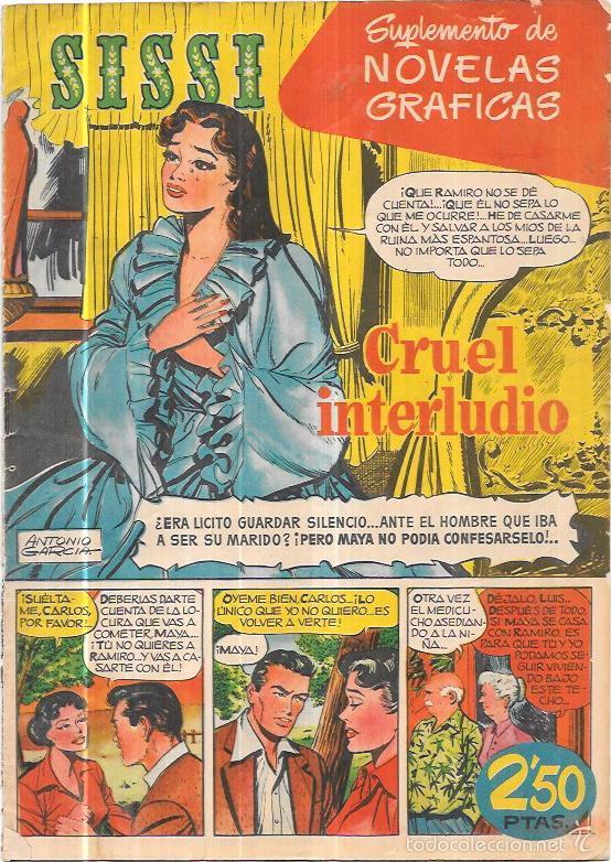 SISSI  SUPLEMENTO DE NOVELAS GRAFICAS  CRUEL INTERLUDIO  Nº3  REVERSO: PAUL  NEWMAN