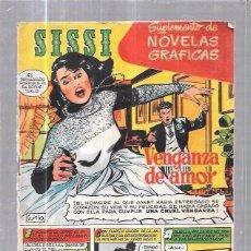 Tebeos: SISSI. SUPLEMENTO DE NOVELAS GRAFICAS. VENGANZA DE AMOR. Nº1. REVERSO: RORY CALHOUN. Lote 58007132