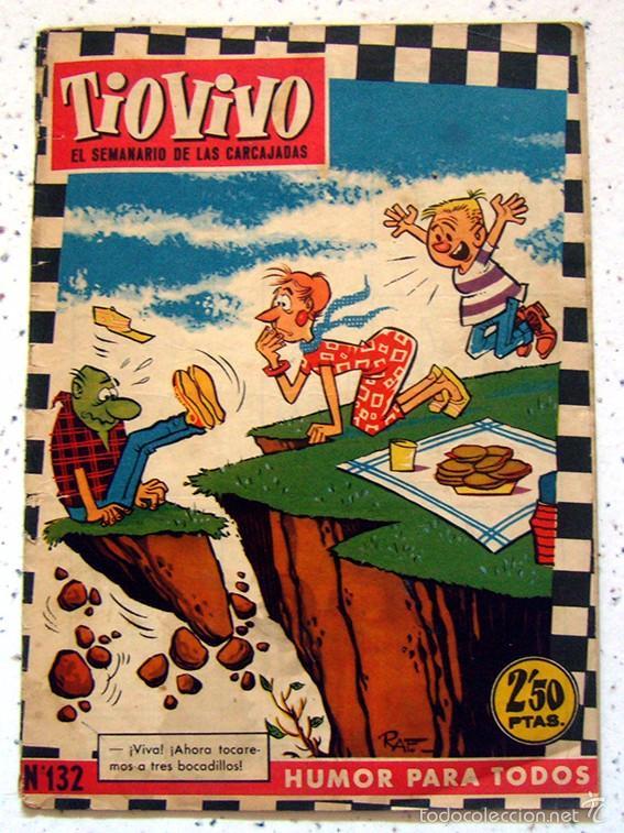 REVISTA SEMANAL . TIO VIVO . PRIMERA EPOCA . NUMERO 132 . AÑO 1960 (Tebeos y Comics - Bruguera - Tio Vivo)