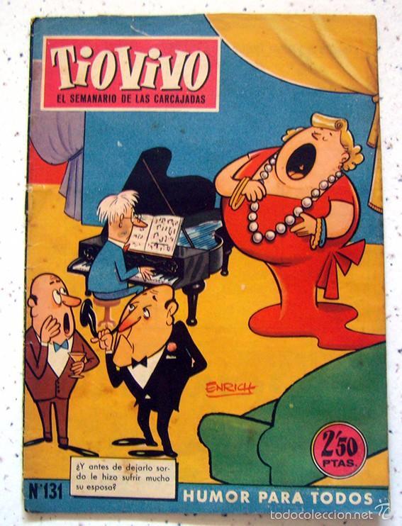 REVISTA SEMANAL . TIO VIVO . PRIMERA EPOCA . NUMERO 131 . AÑO 1960 (Tebeos y Comics - Bruguera - Tio Vivo)