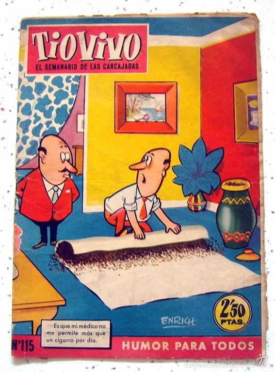 REVISTA SEMANAL . TIO VIVO . PRIMERA EPOCA . NUMERO 115 . AÑO 1959 (Tebeos y Comics - Bruguera - Tio Vivo)