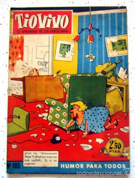 REVISTA SEMANAL . TIO VIVO . PRIMERA EPOCA . NUMERO 105 . AÑO 1959 (Tebeos y Comics - Bruguera - Tio Vivo)