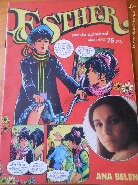 ESTHER REVISTA Nº 10 ---- INCLUYE POSTER ANA BELEN (Tebeos y Comics - Bruguera - Esther)
