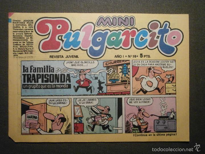TEBEO - MINI PULGARCITO - AÑO I - Nº 16 - EDITORIAL BRUGUERA - (Tebeos y Comics - Bruguera - Pulgarcito)