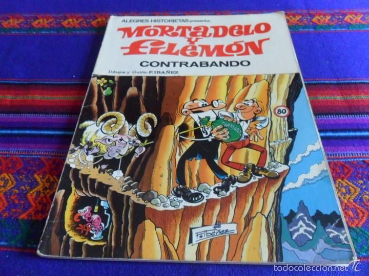 ALEGRES HISTORIETAS 5 MORTADELO, CONTRABANDO. BRUGUERA 1ª ED. 1983. REGALO 3 LOS AGENTES DE LA TIA. (Tebeos y Comics - Bruguera - Otros)