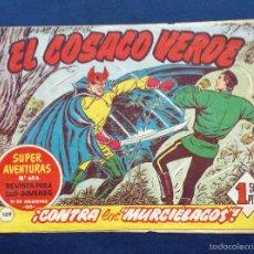 Tebeos: EL COSACO VERDE - Nº 606 109 ¡ CONTRA LOS MURCIÉLAGOS ! REVISTA PARA JÓVENES EDITORIAL BRUGUERA. Lote 58430730