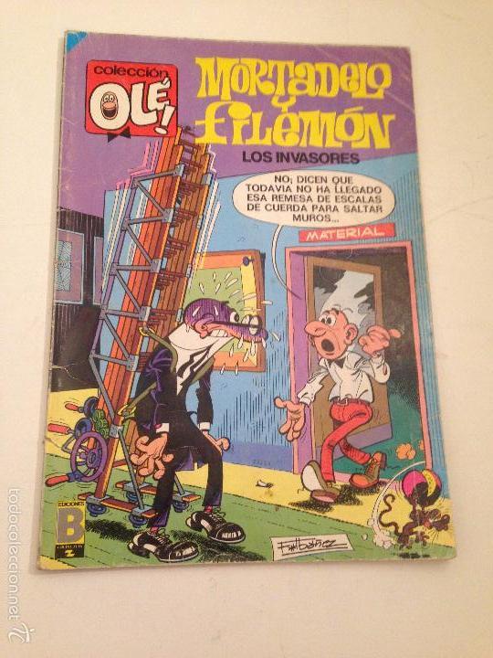 COLECCION OLE Nº 101 M 57. MORTADELO Y FILEMON. LOS INVASORES. EDICIONES B 1988 (Tebeos y Comics - Bruguera - Ole)