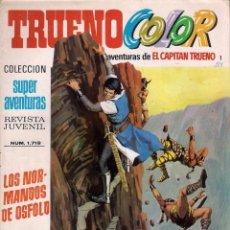 Tebeos: EL CAPITÁN TRUENO. TRUENO COLOR. 2º ÉPOCA. Nº 1. LOS NORMANDOS DE OSFOLD. Lote 58548094
