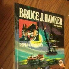 Tebeos: BRUCE J. HAWKER. W. VANCE. RUMBO A GIBRALTAR. JET DE BRUGUERA. TAPA DURA. BUEN ESTADO. Lote 58835580