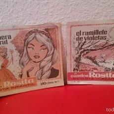 Tebeos: LOTE 2 REVISTA JUVENIL FEMENINA COMIC AÑOS50 COLECCION CUENTOS ROSITA Nº 6-1 BRUGUERA. Lote 59824372