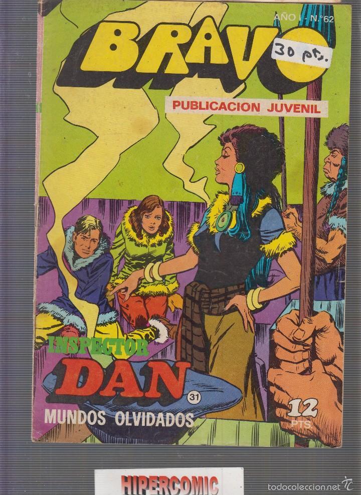 BRAVO INSPECTOR DAN Nº 31 BRUGUERA (Tebeos y Comics - Bruguera - Bravo)